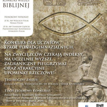 Ogólnopolski Konkurs Wiedzy Biblijnej Etap Diecezjalny